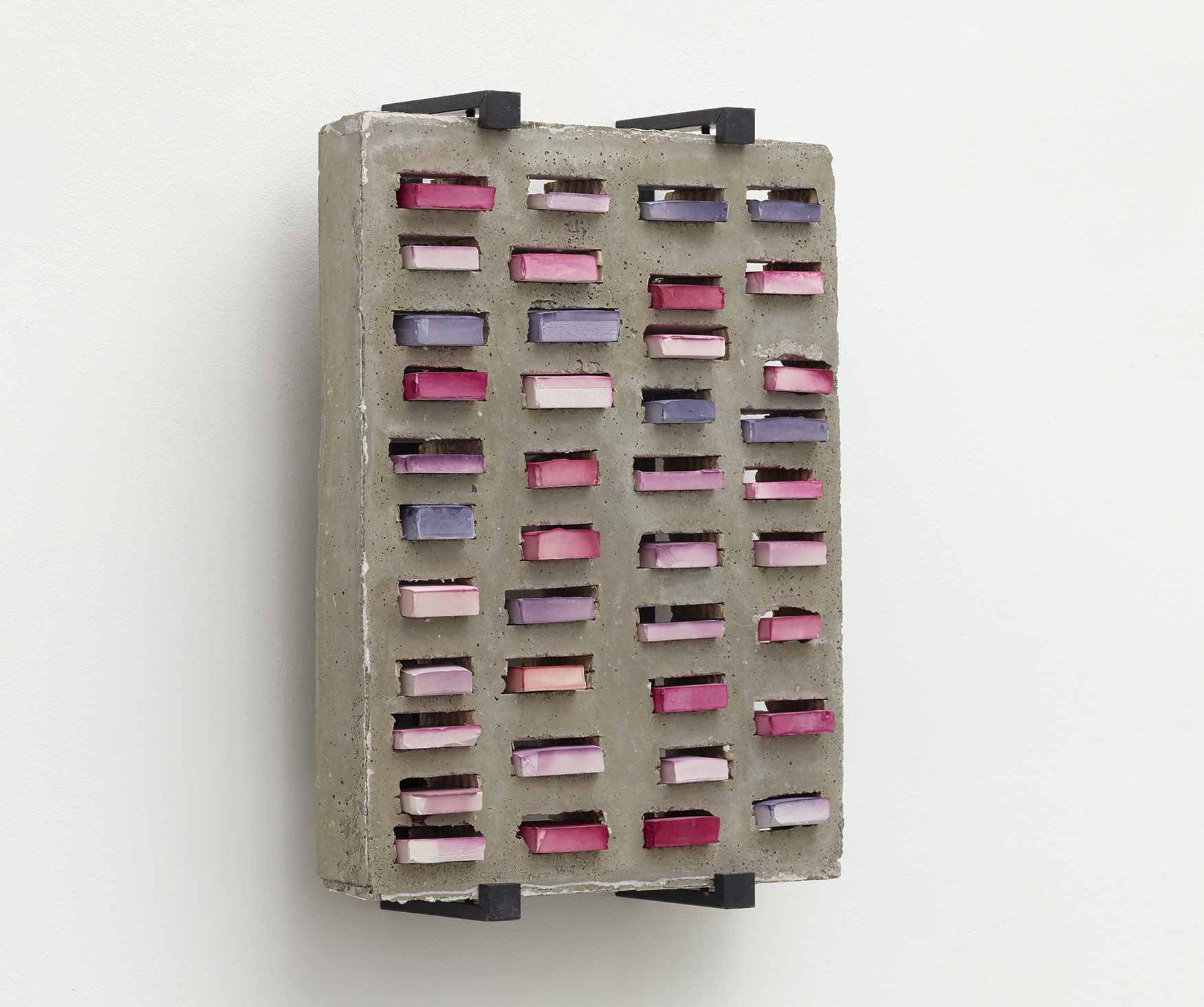 Tove Storch Untitled, 2020 Concrete, colored plaster, steel 49 x 36,5 x 11,5 cm (19,29 x 14,37 x 4,53 in) A certificate of authenticity signed by the artist must follow the work